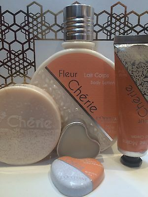 L'Occitane Fleur Cherie Bundle Set Perfume Solid Lotion Soap Hand Cream New