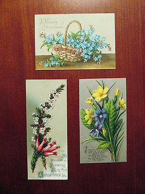 3 Small Victorian Christmas Cards