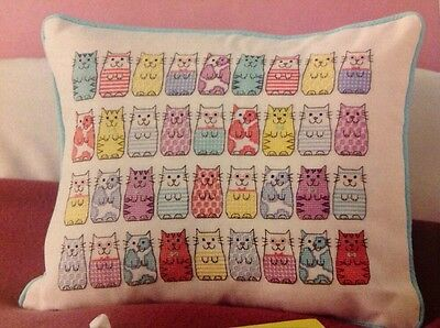 (M) Copy Cat Patterned Cat Kitten Sampler Cross Stitch Chart
