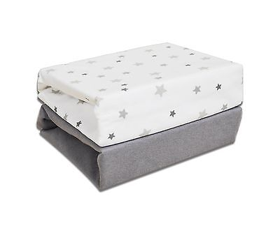 Cuddles Collection Magical Stars Cot Fitted Sheets