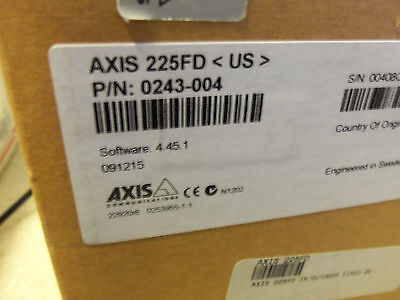 Axis 225FD Fixed Dome POE IP Network Security Surveillance Cam Camera