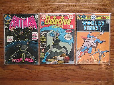 Batman 226 +Detective Comics 431 +World's Finest 235 Superman DC Comics lot of 3