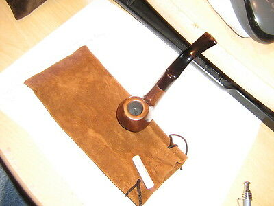 Nice New Brown Ebony#12013-9 Mm Tobacco Smoking Pipe With  Nice Pouch