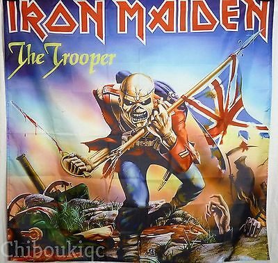 IRON MAIDEN The Trooper HUGE 4X4 BANNER poster tapestry cd eddie heavy metal