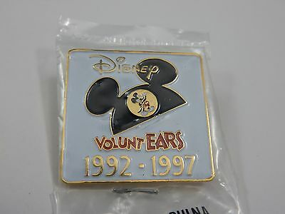 Walt Disney VoluntEars Mickey Mouse Ears Pin Button SEALED