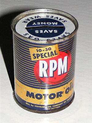 STANDARD OIL CALIFORNIA VTG RPM Special MOTOR OIL CAN MINI COIN BANK