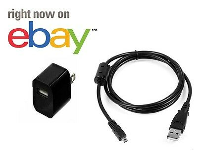Sony Cyber shot USB camera Lead Cable Charger Adapter Power PC Transfer Sync