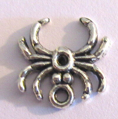 20 SPIDER CHARMS Tibetan silver jewellery findings bulk buy wholesale Gothic