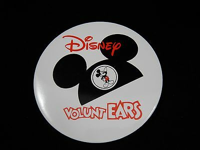 Walt Disney VoluntEars Mickey Mouse Ears Button RARE