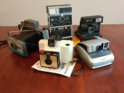 Lot of 4 Poloroid and 1 Kodak VINTAGE INSTANT CAMERAS!!!