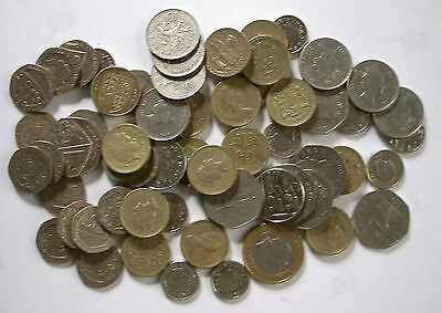 Great Britain Currency / Money / Foreign Exchange / ₤ 27.30 In Current Coins