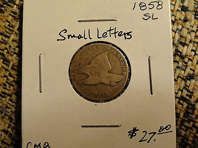 1858 Flying Eagle Cent #6422 (Small Letters)