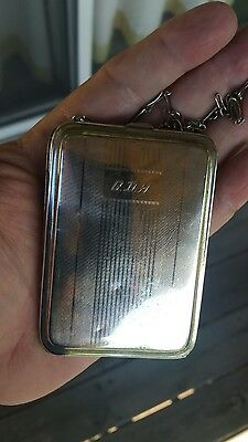 Vintage Sterling Silver Compact 84.5 grams not scrap