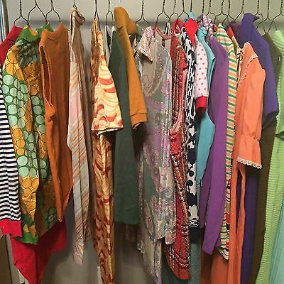 Lot Of 20 Vtg Authentic 60's/70's/80's Dress Blouse Skirt Pant Need Repairs #103