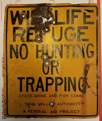 Tennesee Valley Authority TVA Wildife Refuge No Hunting Trapping Poaching Sign