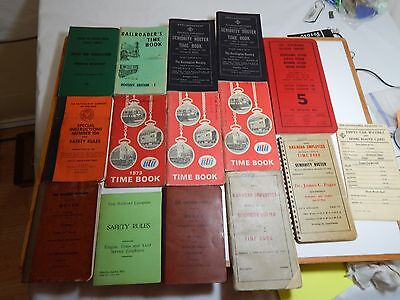 A Lot of 1A Lot of 17 Vintage Ra7 Vintage Rail Road Books / Manuals /Route Cards