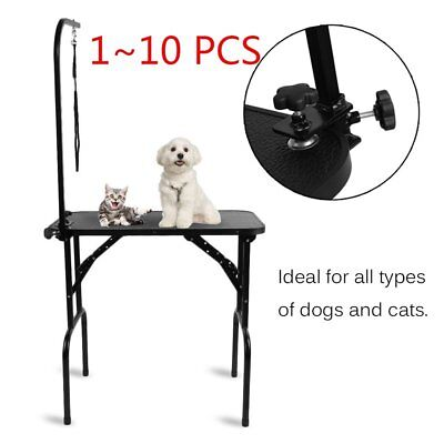 10pcs New Folding Dogs Pet Grooming Bath Table Adjustable Noose Arm Non Slip SY