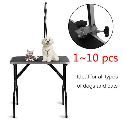 10pc Fold-able Stainless Steel Non-slip Portable Dog Grooming Table Varies Size