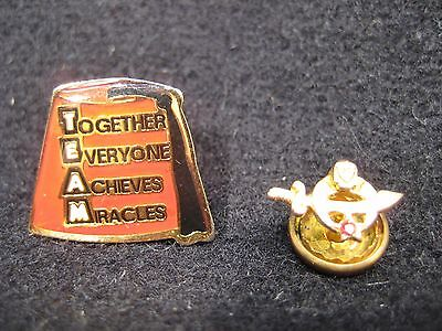 Vintage 10K Gold And Enamel Shriner's Pin With Ruby(?)