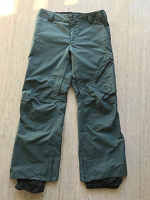 "Burton mens AK 2L Gore-Tex winter snowboarding snow ""Cyclic"" pants, size large"