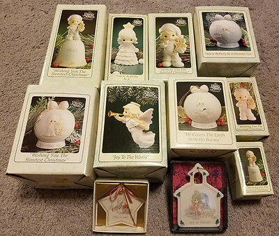 Vintage Precious Moments Religious Figurines Lot of 11 in Original Box