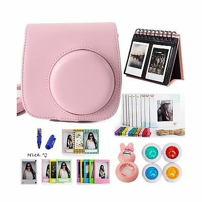 Woodmin Classical Pink 10-in-1 Accessories Bundle for Fujifilm Instax Mini 8 ...