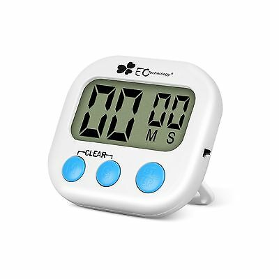 EC Technology Digital Kitchen Timer Count Up Countdown timer with Larger LCD ...