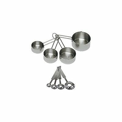 ChefLand 8-Piece Deluxe Stainless Steel Measuring Cups and Measuring Spoon Se...