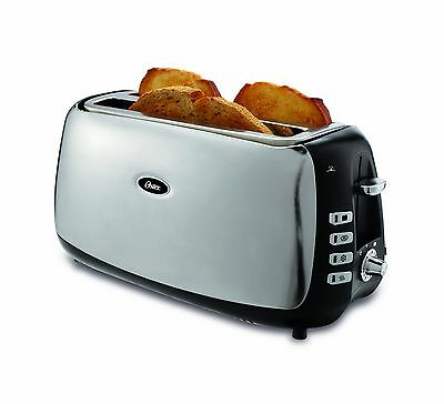 Oster 4 Slice Long Slot Toaster Polished Stainless Steel