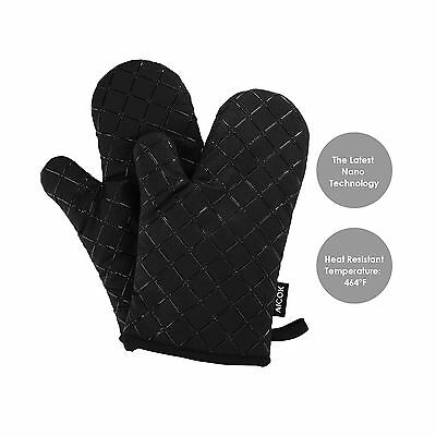 Aicok Oven Mitts Kitchen Gloves Heat Resistant Non-Slip Silicone Cooking Poth...