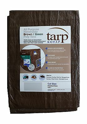 Kotap 20-ft x 30-ft Reversible Brown/Green Poly Tarp Item: TBG-2030