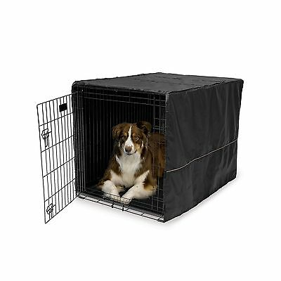 """MidWest 42"""" Dog Kennel Covers / Dog Crate Cover Black 42-inch"""