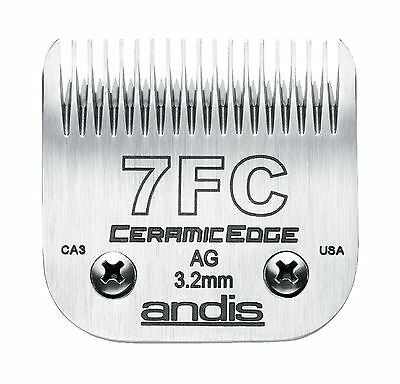 Andis CeramicEdge Carbon-Infused Steel Pet Clipper Blade Size-7FC 1/8-Inch Cu...