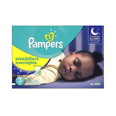 Pampers Swaddlers Overnites Diapers Size 3 72 Count