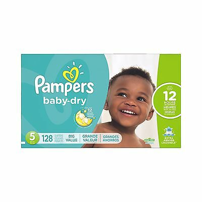 Pampers Baby-Dry Diapers Size 5 128 Count- packaging may vary 128 Count