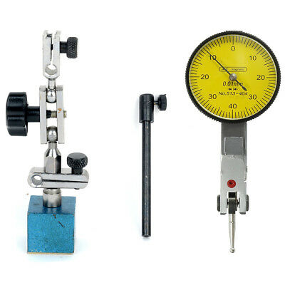 Adjustable Magnetic Base Stand Holder With Yellow-face Dial Test Indicator Gauge