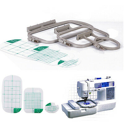 3pcs Embroidery Hoops Frame Set Fit for Brother SE400 SE425 PE500 HE-120 Machine