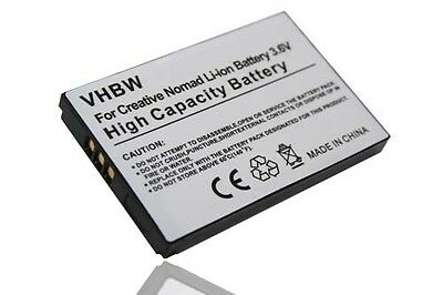 BATTERY for CREATIVE NOMAD JUKEBOX ZEN NX XTRA  ACCU