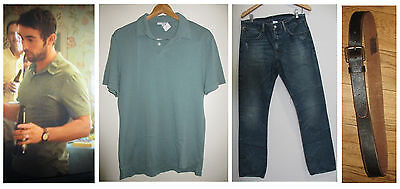 Screen Used BLOOD & OIL Billy Shirt Jeans Belt Chace Crawford Production Worn