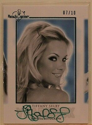 2014 Benchwarmer Yearbook Autograph Card - Tiffany Selby #7/10 - green ink/foil