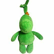 NWT Carters Child Of Mine Musical Music Plush Green Dinosaur Dragon Baby Toy