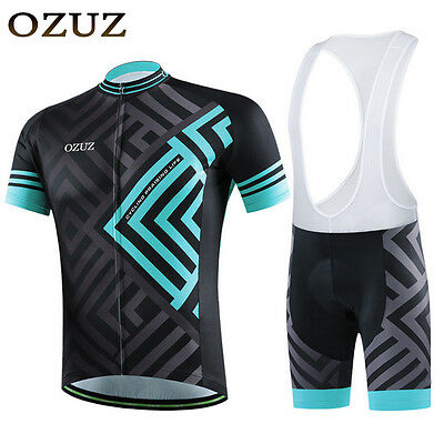 Bicycle Team Cycling Jersey Bib Shorts Kit Breathable Bike Clothing maze pattern