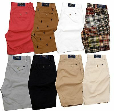 """NWT Polo Ralph Lauren Classic Fit 9"""" Men's Cotton Casual Chino Madras Shorts"""