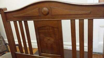Beautiful Antique Vintage Timber Double Bed Head and End
