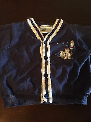 Laura Ashley Baby Clothing Boy Sweater/Cardigan 100% Cotton 3m Preowned