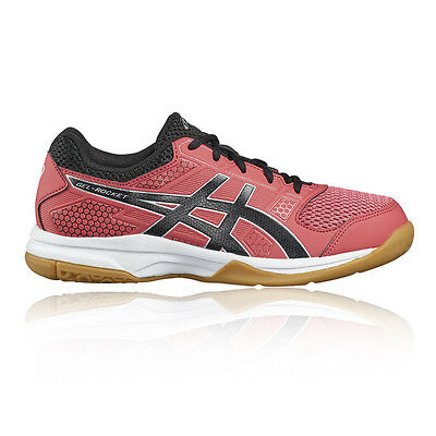 Asics Gel-Rocket 8 Womens Pink Squash Indoor Court Shoes Trainers Pumps