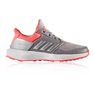 Adidas RapidaRun Junior Pink Silver Cushioned Running Sports Shoes Trainers