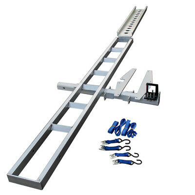 For Hitch mount aluminum motorcycle carrier rack and ramp Tow bar no trailer AMD