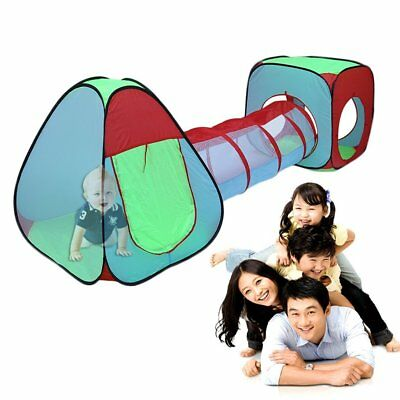 3pcs Kids Baby Play Tent And Tunnel Ball Pit Playhouse pop up Indoor Outdoor SY