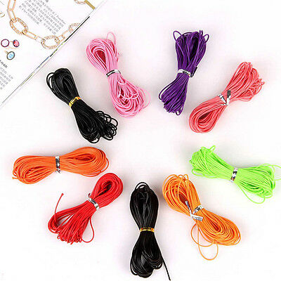 10M Real Leather Cord Necklace Charms Rope String Jewelry Making DIY 1mm